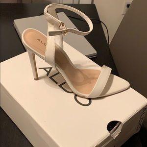 Aldo white heels